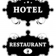 Stock Vector: Hotel and Restaurant signs