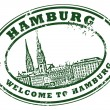 Hamburg stamp — Stock Vector