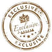 Exclusive stamp — Stock Vector