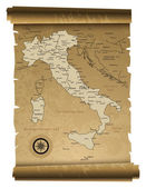 Old Italy map — Stock Vector