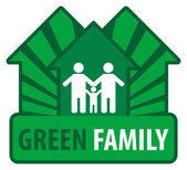 Família verde — Vetor de Stock