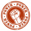 Stamp Power — Stock Vector