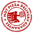 Pizza delivery stamp — Stock Vector