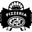 Pizzeria sign — Stock Vector