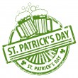 St. Patrick's Day stamp — Stock Vector