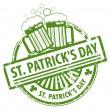 St. Patrick's Day stamp — Stock Vector