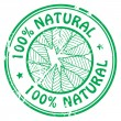 100 % natural stamp — Stock Vector