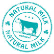 Natural Milk stamp — Stock Vector