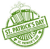 St. Patrick's Day stamp — Vector de stock