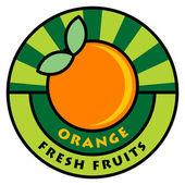 Fruit label — Vector de stock