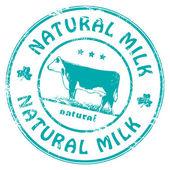 Sello de leche natural — Vector de stock