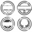 Empty grunge rubber stamps set — Stock Vector