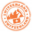 Switzerland stamp — Stock Vector