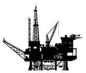 Oil Rig Drilling Platform — Stock Vector
