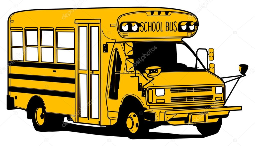 School Bus Drawing Old School Bus Hand Draw