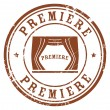 Premiere stamp — Stock Vector