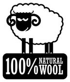 Natural Wool label — Stock Vector