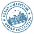 timbre de collection urbaine — Image vectorielle