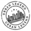 Urban Legend stamp - Image vectorielle