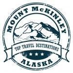 Mount mckinley, Aljaška razítko — Stock vektor