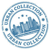 Urban collection stamp — Stock Vector