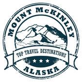 Mount McKinley, Alaska stamp — Stock Vector