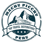 Machu Picchu stamp — Stock Vector