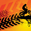 Stock Vector: Motocross background