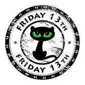 Friday 13th stamp — Stock Vector