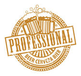 Timbre de chopes à bière — Vecteur