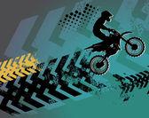 Motocross bakgrund — Stockvektor