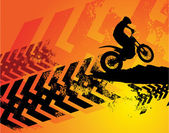 Fondo de motocross — Vector de stock