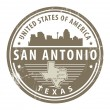 Texas, San Antonio stamp - Stock Vector
