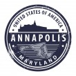 Stock Vector: Maryland, Annapolis