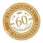 Stamp 60 anniversary — Stock Vector