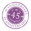 Stock Vector: Stamp 45 anniversary
