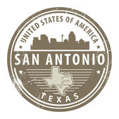 Texas, San Antonio stamp — Stock Vector
