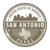 Texas, San Antonio stamp — Stock Vector