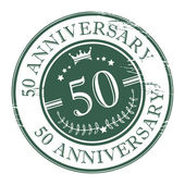 Stamp 50 anniversary — Stock Vector