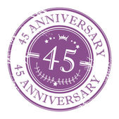 Stamp 45 anniversary — Stock Vector
