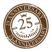 Razítko 25 výročí — Stock vektor