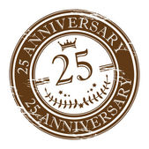 Aniversario del sello 25 — Vector de stock