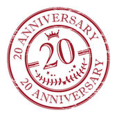 Aniversario del sello 20 — Vector de stock