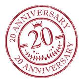 Stamp 20 anniversary — Stock Vector