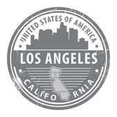 California, los angeles stempel — Stockvector