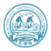 Amsterdam, Netherlands stamp — Stock Vector