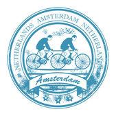 Amsterdam, Netherlands stamp — Stock Vector