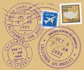 Símbolos do carimbo de postagem — Vetorial Stock