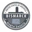 Stock Vector: North Dakota, Bismarck stamp