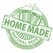 Home Made beer stamp — Stock Vector